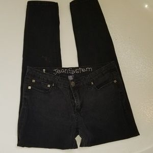 Jean System Black Skinny Jeans For Curvy Gals